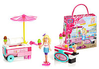 Конструктор Mega Bloks Barbie Тележка с мороженым Барби, 74pcs, фото 1