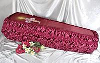 Гробы обитые тканью №1