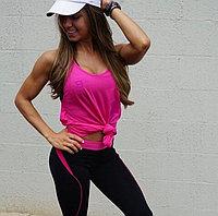 Женская майка для фитнеса розовая, фото 1