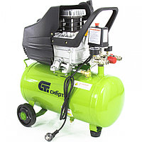Компрессор воздушный 24 литров, КК-1500/24, 1,5 кВт, 198 л/мин, прямой привод, масляный, СИБРТЕХ, 58037