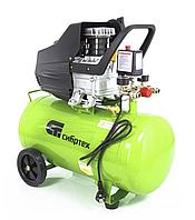 Компрессор воздушный 198 л/мин, 50 литров, КК-1500/50, 1,5 кВт, прямой привод, масляный, СИБРТЕХ, 58039