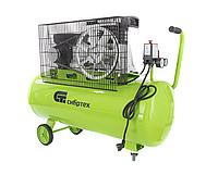 Компрессор воздушный 350 л/мин, 100 литров, КР-2200/100, 2,2 кВт, ременной привод, масляный, СИБРТЕХ, 58042