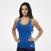 Облегающая майка для фитнеса синяя, фото 1
