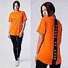 Женская футболка 304 оранжевая