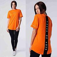 Женская футболка 304 оранжевая, фото 1