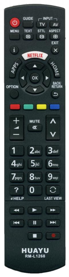 Универсальный пульт HUAYU RM-L1268 (Panasonic) LCD/LED/3D/Smart TV с кнопкой Netflix
