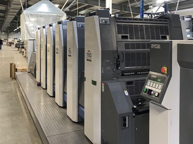 Ryobi 755+лак б/у 2011г - 5-красочная печатное оборудование
