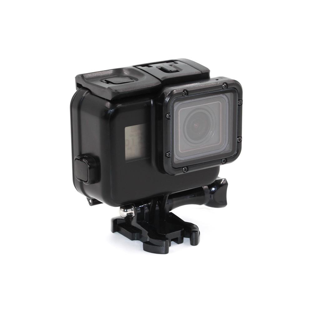 Черный водонепроницаемый бокс с неснимаемым объективом для GoPro HERO 5/6/7