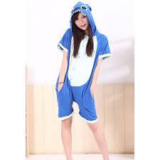 Кигуруми летняя пижама Стич голубой детский