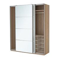 Гардероб ПАКС под беленый дуб Аули Сэккен ИКЕА, IKEA, фото 1