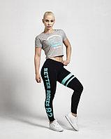 Короткая футболка для фитнеса Better Bodies светло-серая, фото 1