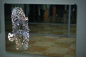 Зеркало с подсветкой и пескоструйным рисунком (17 июня 2015) 2