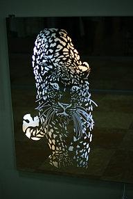 Зеркало с подсветкой и пескоструйным рисунком (17 июня 2015) 3