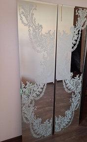 Зеркальное настенное панно под рисунок обоев (21 августа 2015) 1