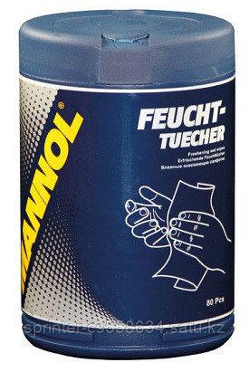 MANNOL FEUCHTTUECHER (Освежающие салфетки 80шт/бан)