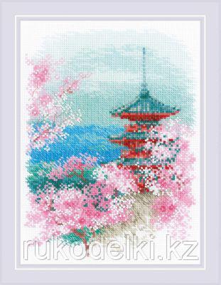 """Набор для вышивания крестом """"Сакура. Пагода"""""""