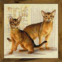 """Набор для вышивания крестом """"Абиссинские кошки"""""""