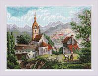 """Набор для вышивания крестом """"Монастырь Шоненверт"""" по мотивам гравюр XIX века"""