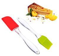 Набор кухонных силиконовых принадлежностей «Лопатка и кисточка» Silicone
