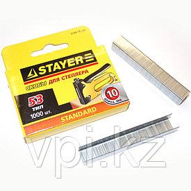 Скобы для мебельного степлера, тип 53, 6мм. 1000шт. STAYER