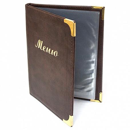 Папка-меню А5 коричневая NEW-LQ 99003002 арт. 702