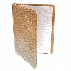 Папка-меню А4 коричневая, рельефные буквы NEW-LQ 99003017
