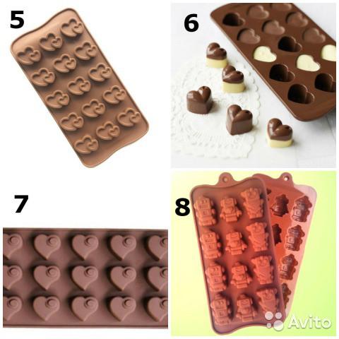 Форма для шоколада в ассортименте!!!