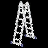 Лестница шарнирная алюминиевая, 4х3 Сибртех Россия