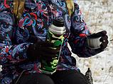 Термос бытовой, вакуумный питьевой в кожаной оплетке, 1000 мл Хаки, фото 2