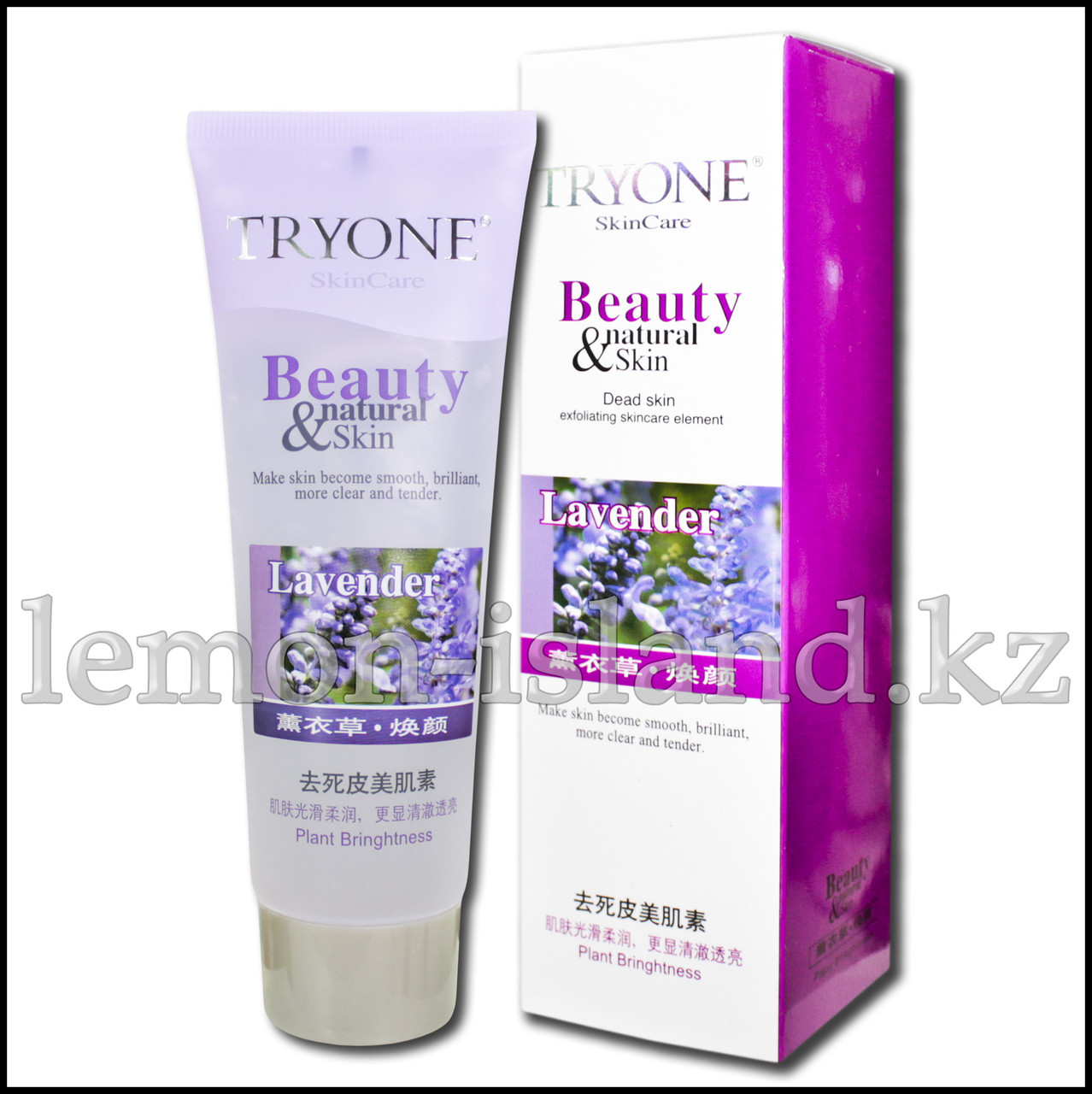 Пилинг для лица, стимулирующий регенерацию кожи, с эфирными маслами лаванды.