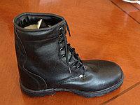 Ботинки с высокими берцами (берцы) изготовленные из натуральной кожи утепленные натуральным мехом