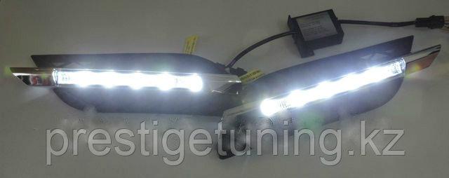 Рамки в бампер с ходовыми огнями LED DRL на Mercedes-Benz W211 рестайлинг