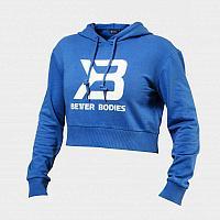 Короткий свитер с капюшоном Better Bodies синий, фото 1