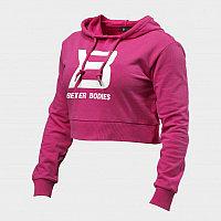 Короткий свитер с капюшоном Better Bodies розовый, фото 1