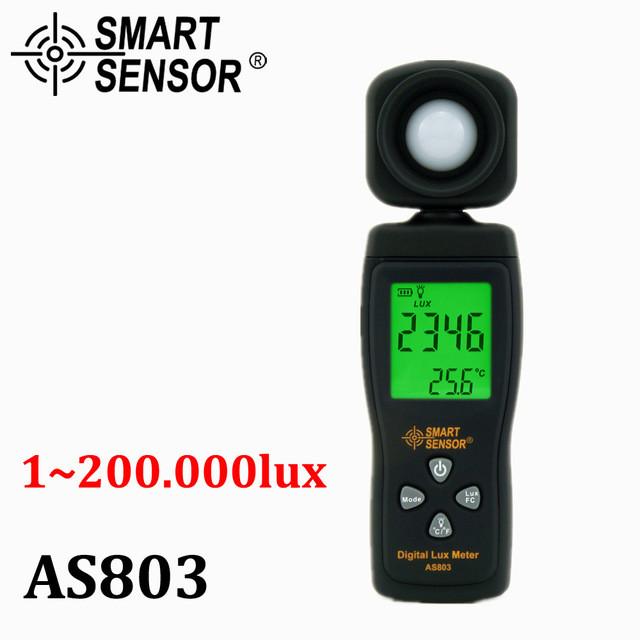 AS803 люксметр Smart Sensor, измеритель уровня освещенности от 0 до 200 000 лк