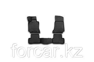 Коврики 3D в салон MERCEDES-BENZ С-Class W205, 2014->, седан, 4 шт. (полиуретан)