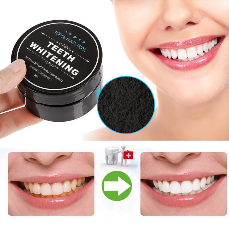 Угольный порошок для отбеливания зубов!