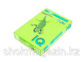 """Бумага ксероксная зеленая неон """"IQ COLOR"""" А4,500л, 80г"""