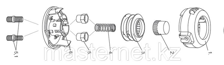 Катушка универсальная триммерная (для мотокроссы) , гайка М8х1,25, гайка М10, винт М8-М10, DENZEL, 96312 - фото 7
