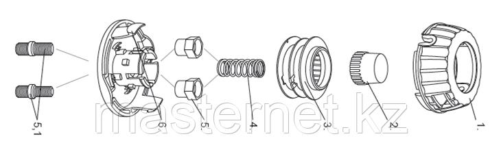 Катушка универсальная триммерная, гайка М10 х1,25, гайка М8, винт М8-М10, DENZEL, 96316 - фото 2