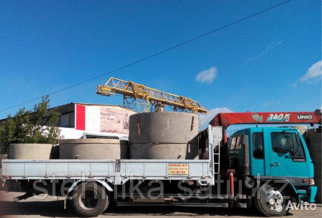 Перевозки бетонных колец колодцев
