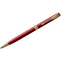 "Ручка шариковая Parker ""Sonnet Intense Red GT Slim"" черная, 1,0мм, поворот., подар. уп."