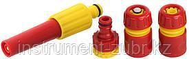 """Набор GRINDA """"CLASSIC Quick-Connection System"""" поливочный пластиковый: наконечник регулир,2 соединителя, адаптер внешний"""