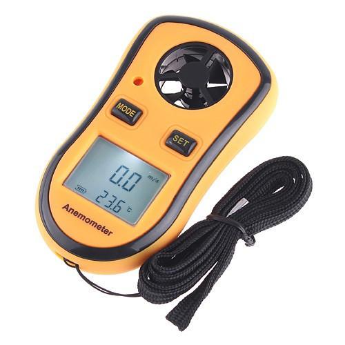 Цифровой крыльчатый анемометр GM8908 ( 0,7-30м/с) (деление - 0,1 м/с) с измерением температуры