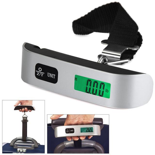 Весы ручные электронные до 50кг для багажа
