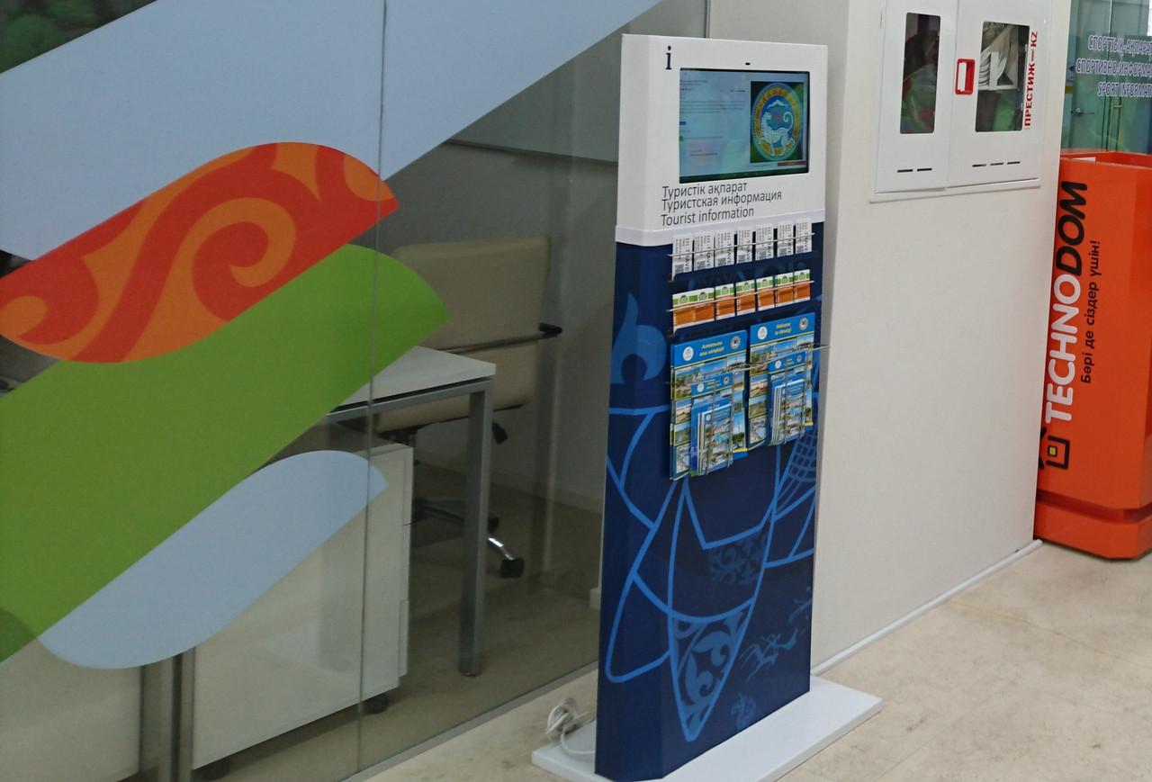 Интерактивный рекламный киоск с сенсорной панелью
