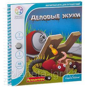 Магнитная игра Bondibon для путешествий, ДЕЛОВЫЕ ЖУКИ, SGT 230 RU.