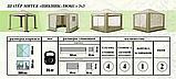 """Шатёр """"Пикник-Люкс"""" 3,0х3,0м антимоскитная сетка с 4х сторон, фото 5"""