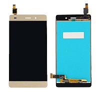 Дисплей Huawei P8 Lite ALE-L21, с сенсором, цвет золотой