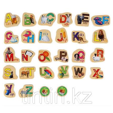 """Деревянный магнитный набор """"Английский алфавит"""", 28 штук, фото 2"""